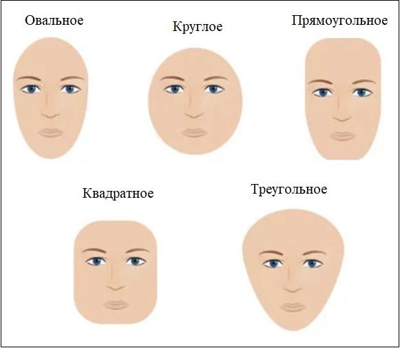 Иллюстрация формы лица
