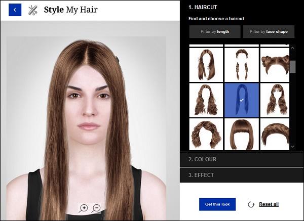 Скрин выбор причёски