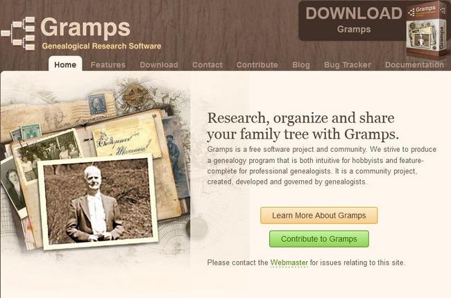 Реклама софта Gramps