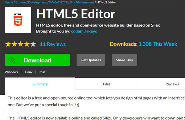 HTML 5 редактор
