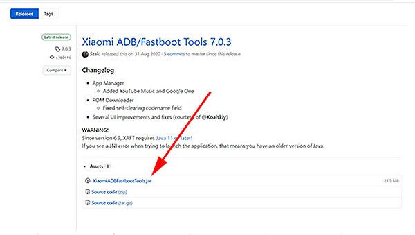 Скачивание Xiaomi adb fastboot tools