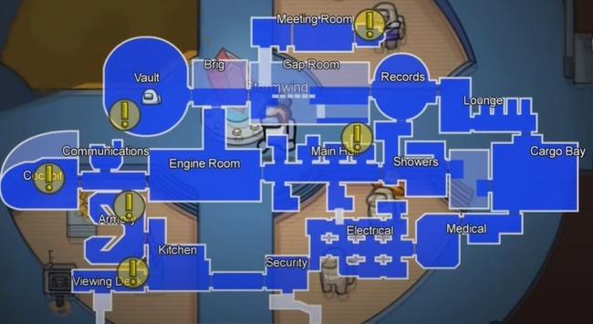 Схема New Map на борту воздушного корабля