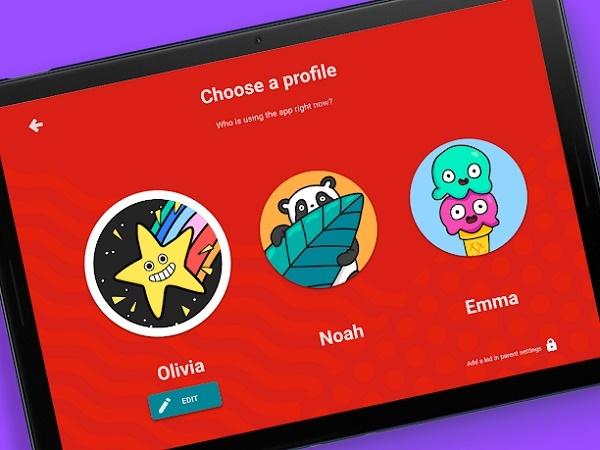 Экран выбора профиля