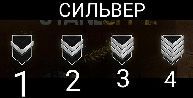 4 серебряных ранга