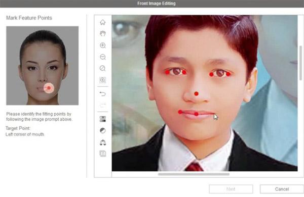 Выбор анимированных частей фото