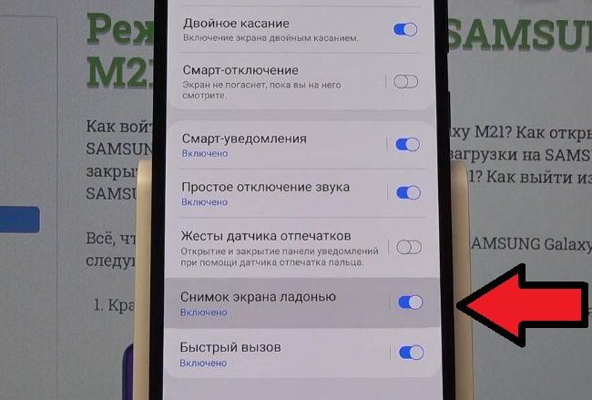 Пункт Снимок экрана