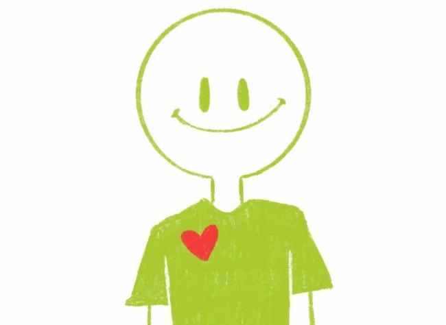 Персонаж с сердечком на груди