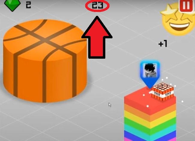 Количество очков на экране игры