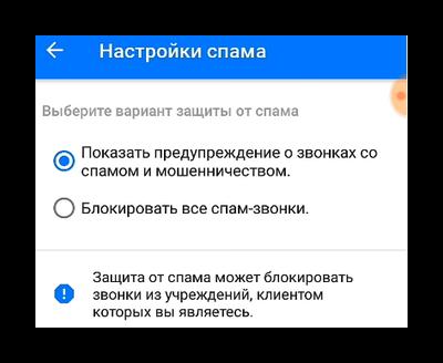 Блокировка спама