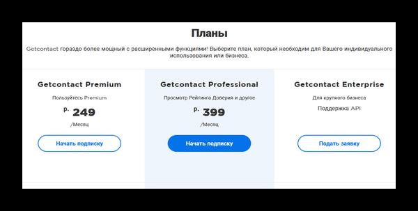 Тарифы Гетконтакт Премиум