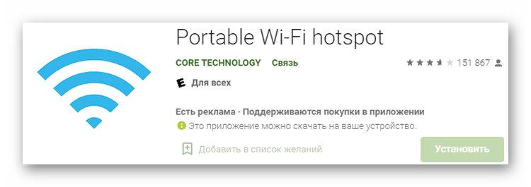 Приложение Wi-Fi hotspot