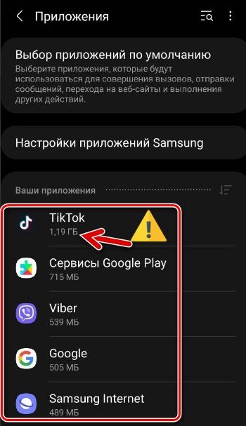"""Приложение """"ТикТок"""" в перечне"""