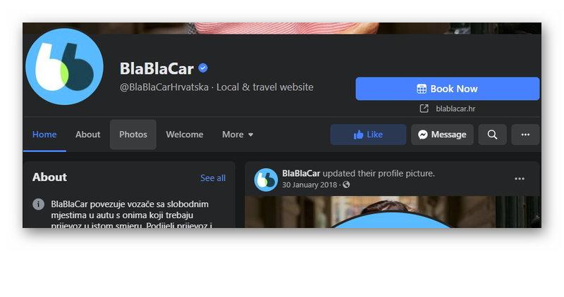 Группа Bla Bla Car в Фейсбуке