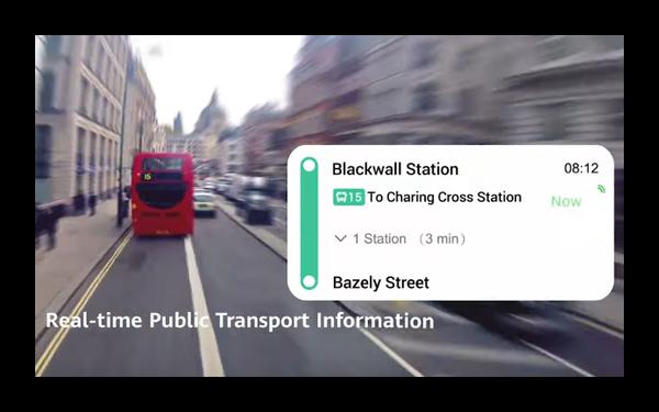 Общественный транспорт в приложении