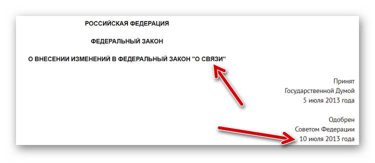 Закон о связи 229-ФЗ