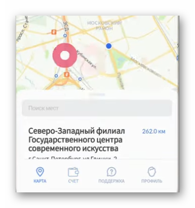 Карта в приложении