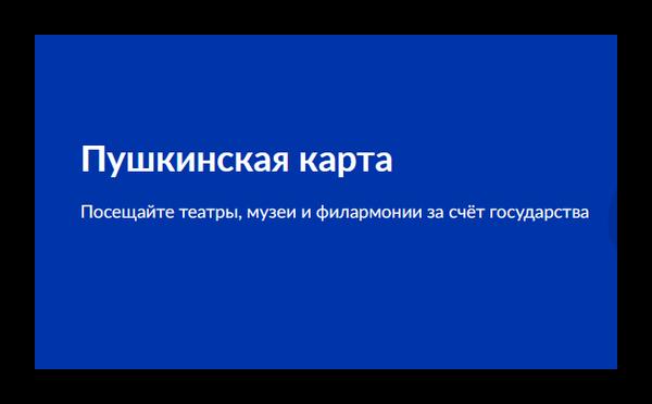 Пушкинская карта на сайте