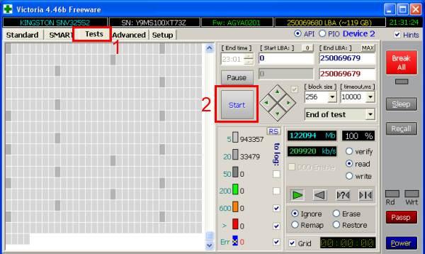программа виктория для проверки жесткого диска