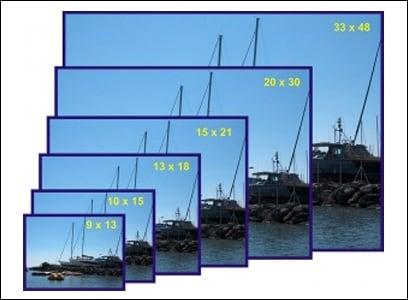 Соотношение размеров фотографий