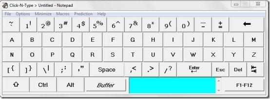Иллюстрация клавиш в Click-N-Type