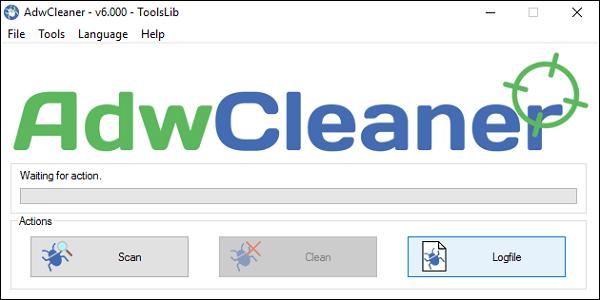 """Воспользуйтесь функционалом """"AdwCleaner"""" для борьбы с вредоносными программами"""