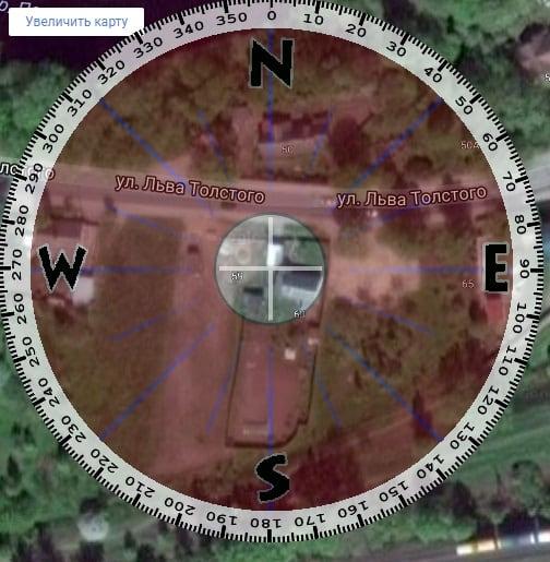 Ресурс m-ua.info поможет определить специфику расположения вашего дома относительно сторон света