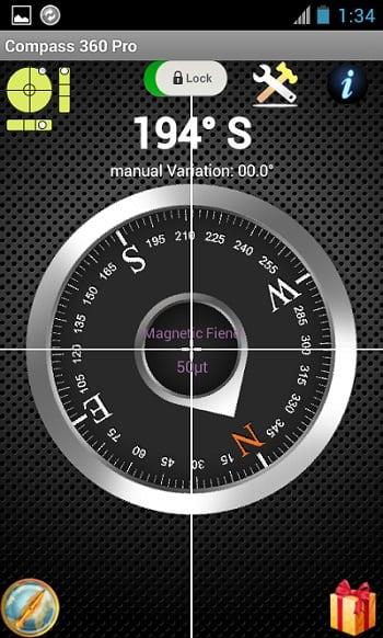 """Мобильное приложение """"Компас 360 Pro Free"""" укажет вам на расположение частей света"""