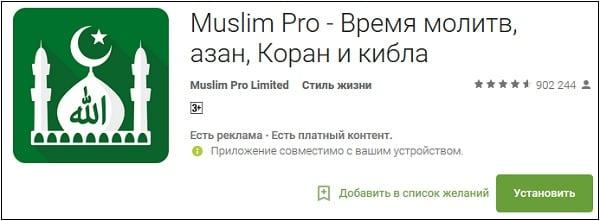 """Мобильное приложение """"Muslim Pro"""" поможет вам правильно определить киблу"""