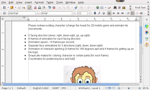 Визуальный редактор Ворд OpenOffice Writer