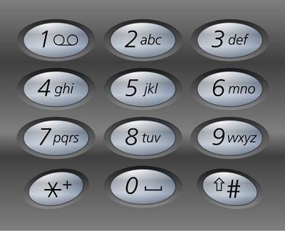 Классическая кнопочная клавиатура 3х4