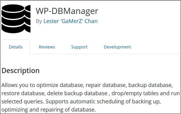 """Используйте """"WP-DBMananer"""" для исправления ошибок в вашей базе"""