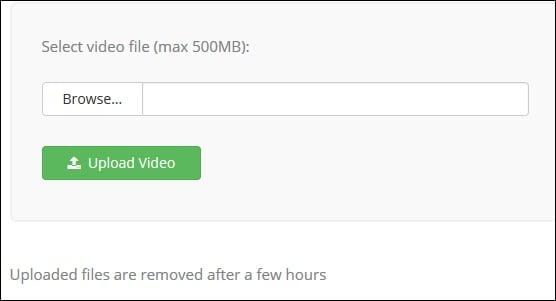 Загружаем видео в audioremover.com
