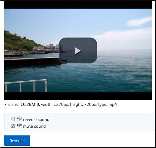 Процесс отделения аудио от видео в ezgif.com