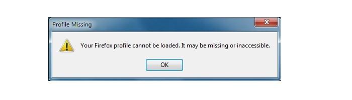 """Устраняем ошибку """"Не удалось загрузить ваш профиль Firefox""""."""