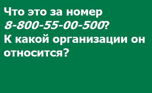 Определение номера 88005500500