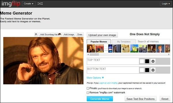 Выбираем изображения для будущего мема в imgflip.com