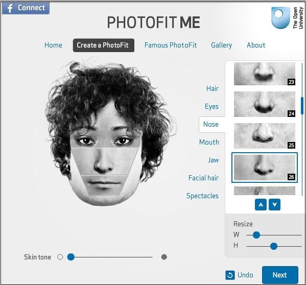 Корректирование лица человека с помощью инструментария photofit-me