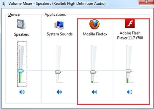 Проверьте уровень звука вашего веб-навигатора