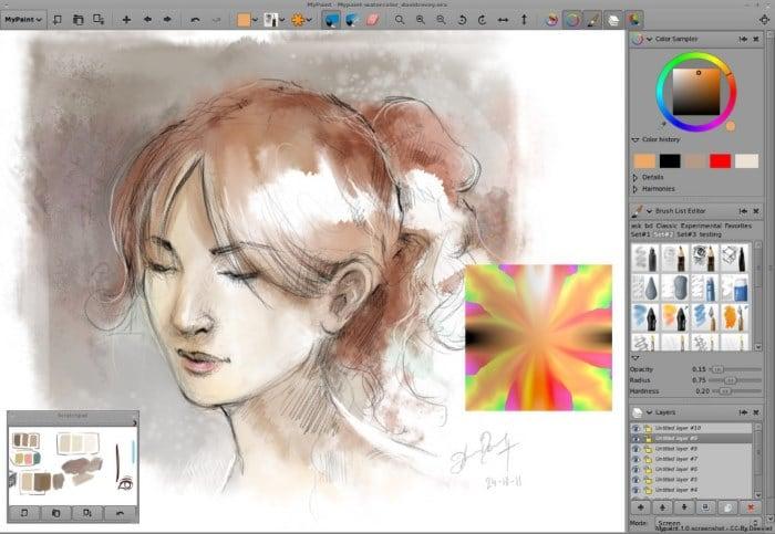 Рисуем арт девушки в программе
