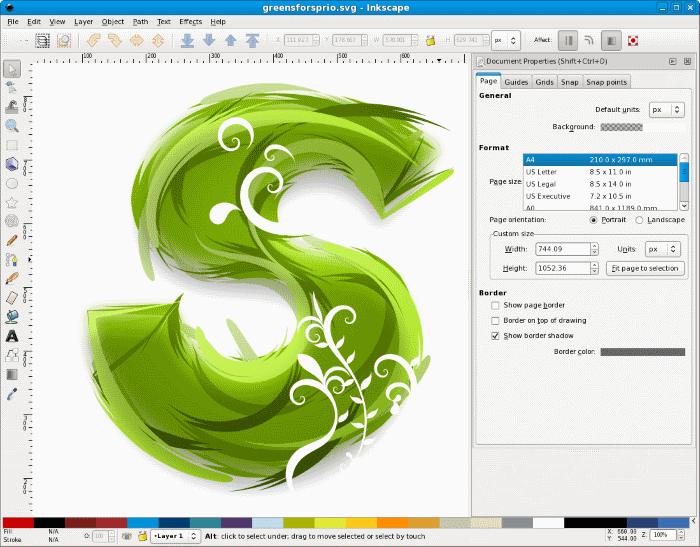 Создаём арт букву в Inkspace