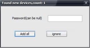 """Добавьте найденные девайсы с помощью """"Add all"""""""