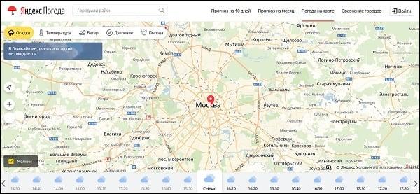 Осадки Яндекс